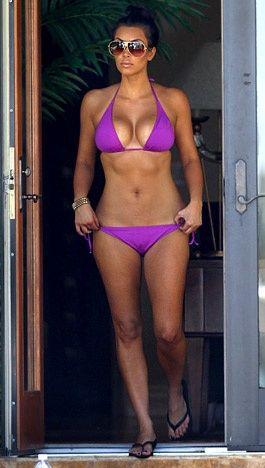 Kim kardashian in a purple bikini photos 439