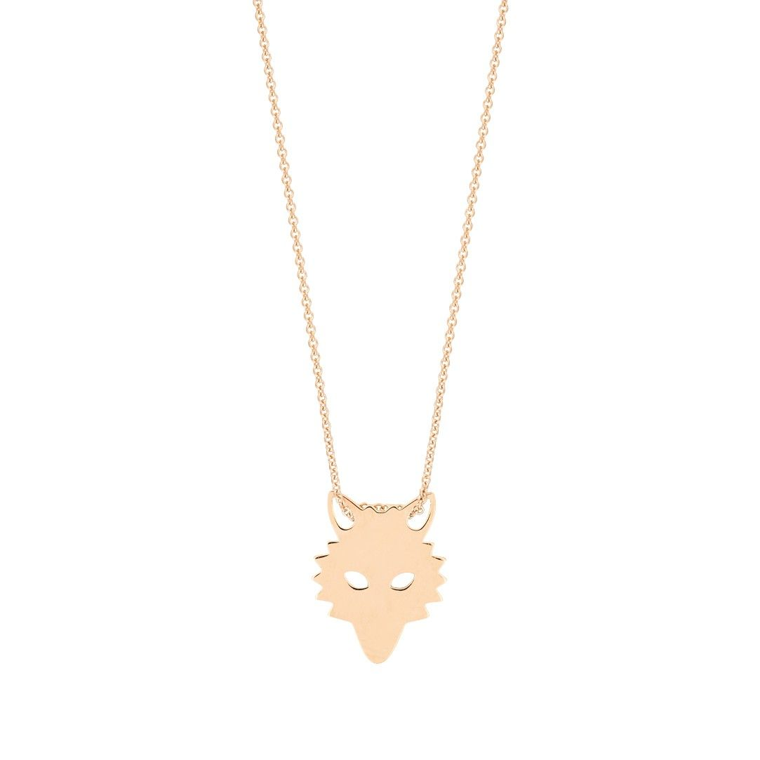 Mini Diamond Lotus 18-karat rose gold necklace Ginette NY