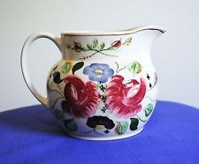 FANTASTIC BLUE RIDGE SOUTHERN POTTERY HAND PAINTED FLORAL PITCHER