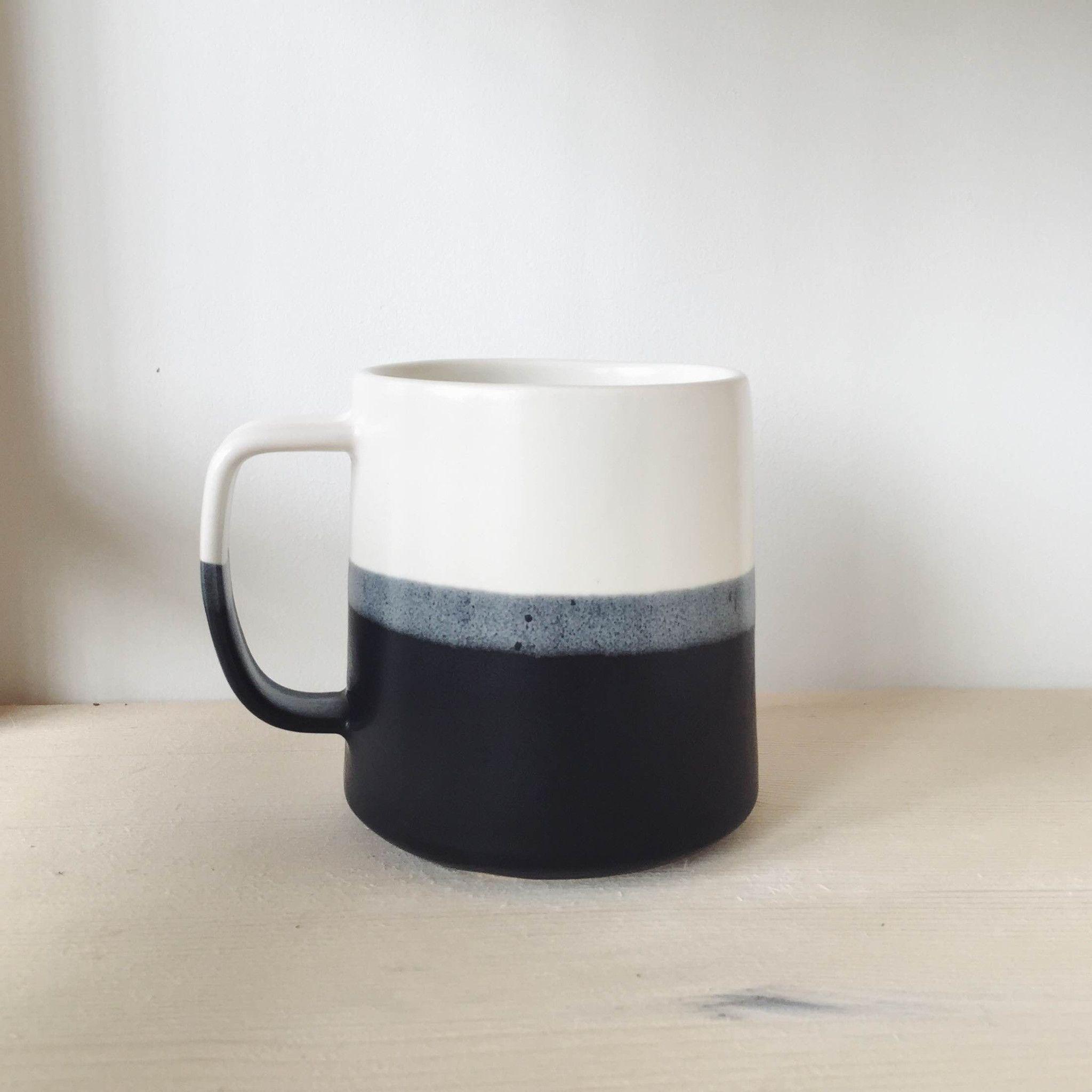 Danish Mug Black Keramiek Servies Creatief