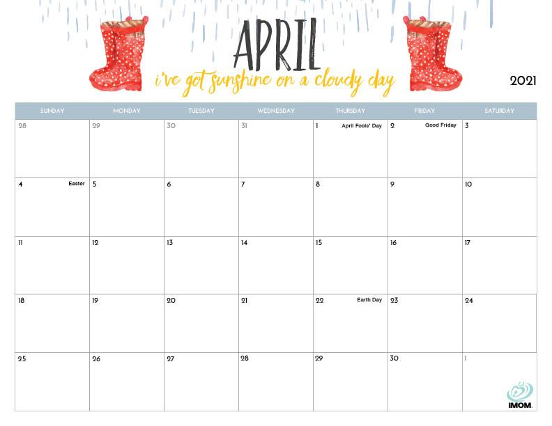 2020 and 2021 Printable Calendars for Moms - iMom in 2020 ...