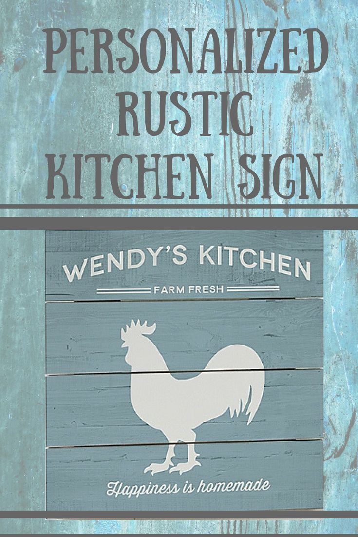 Personalized Wood Slat Farmhouse Kitchen Sign. Great gift idea ...