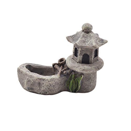 Lychee Pond Tower Zen Garden Ornament Statue Home Desk Decor Candle Holder DIY