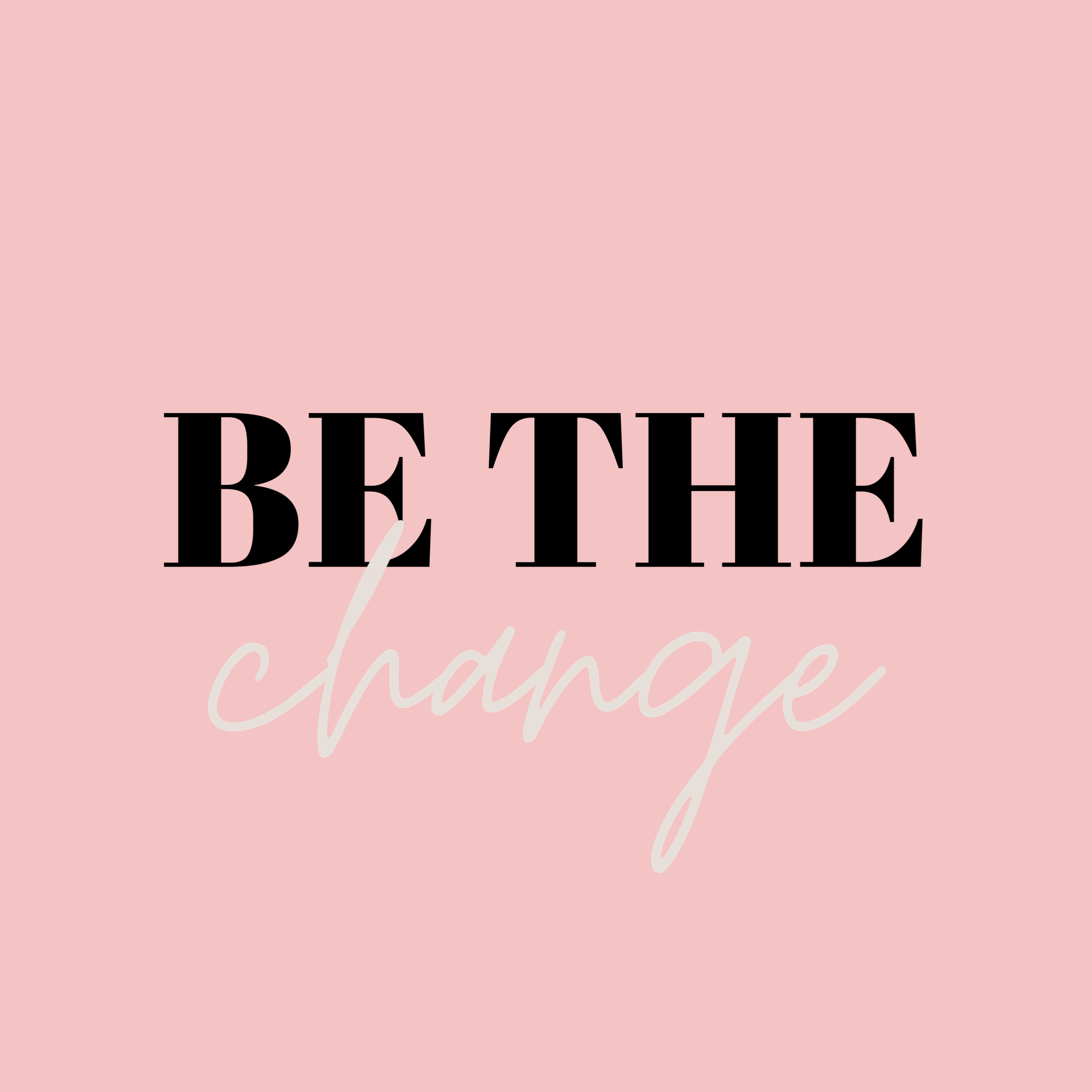 Be The Change In