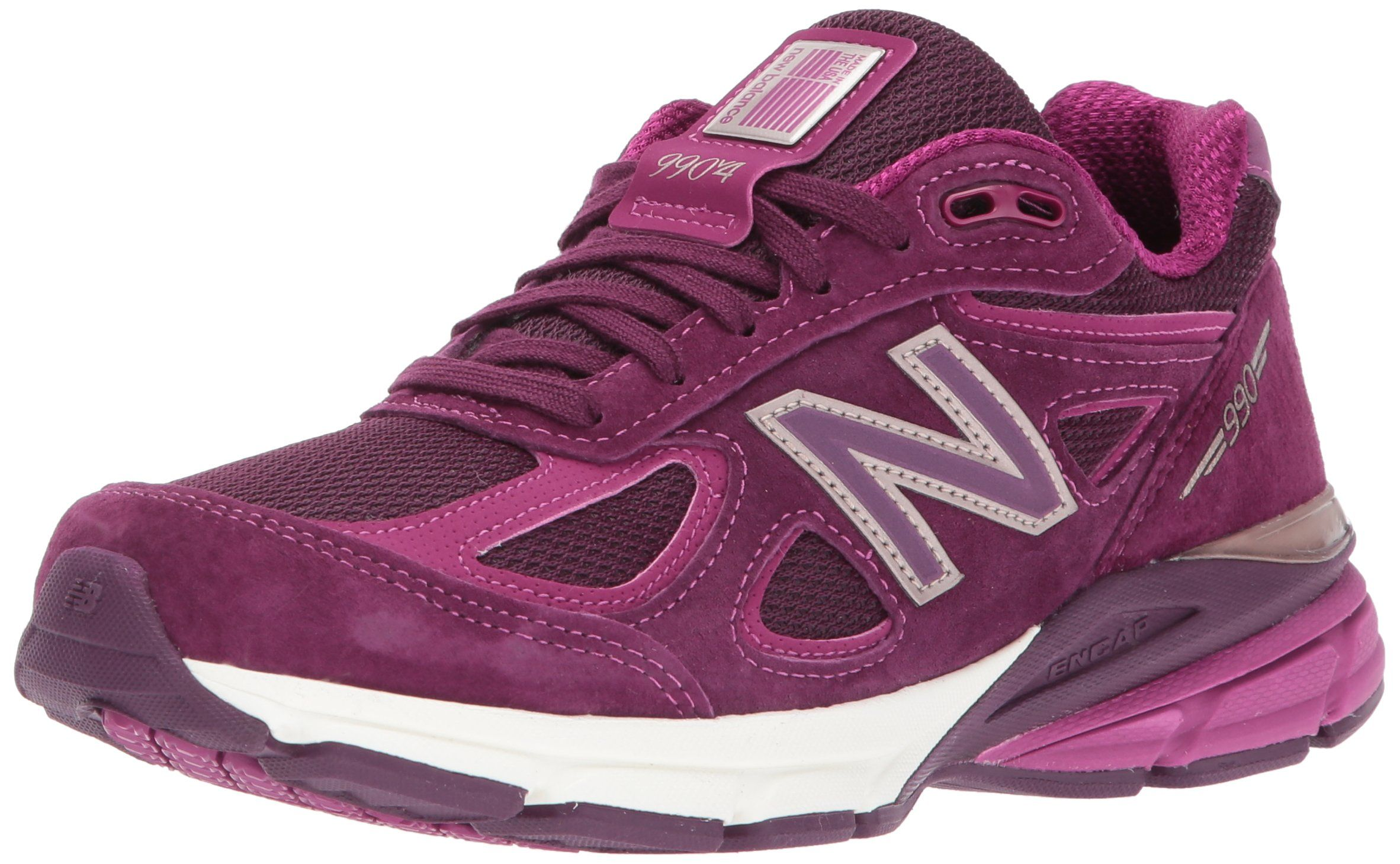 100% authentic 6e7f6 3dd02 New Balance Womens 990V4 Running Shoe Dark Mulberry 7 B US ...