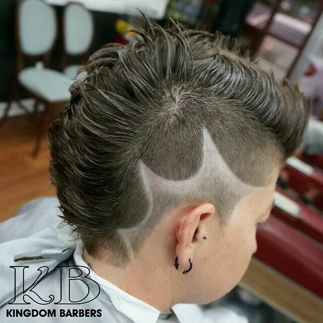 kingdom barbers faux hawk shaved