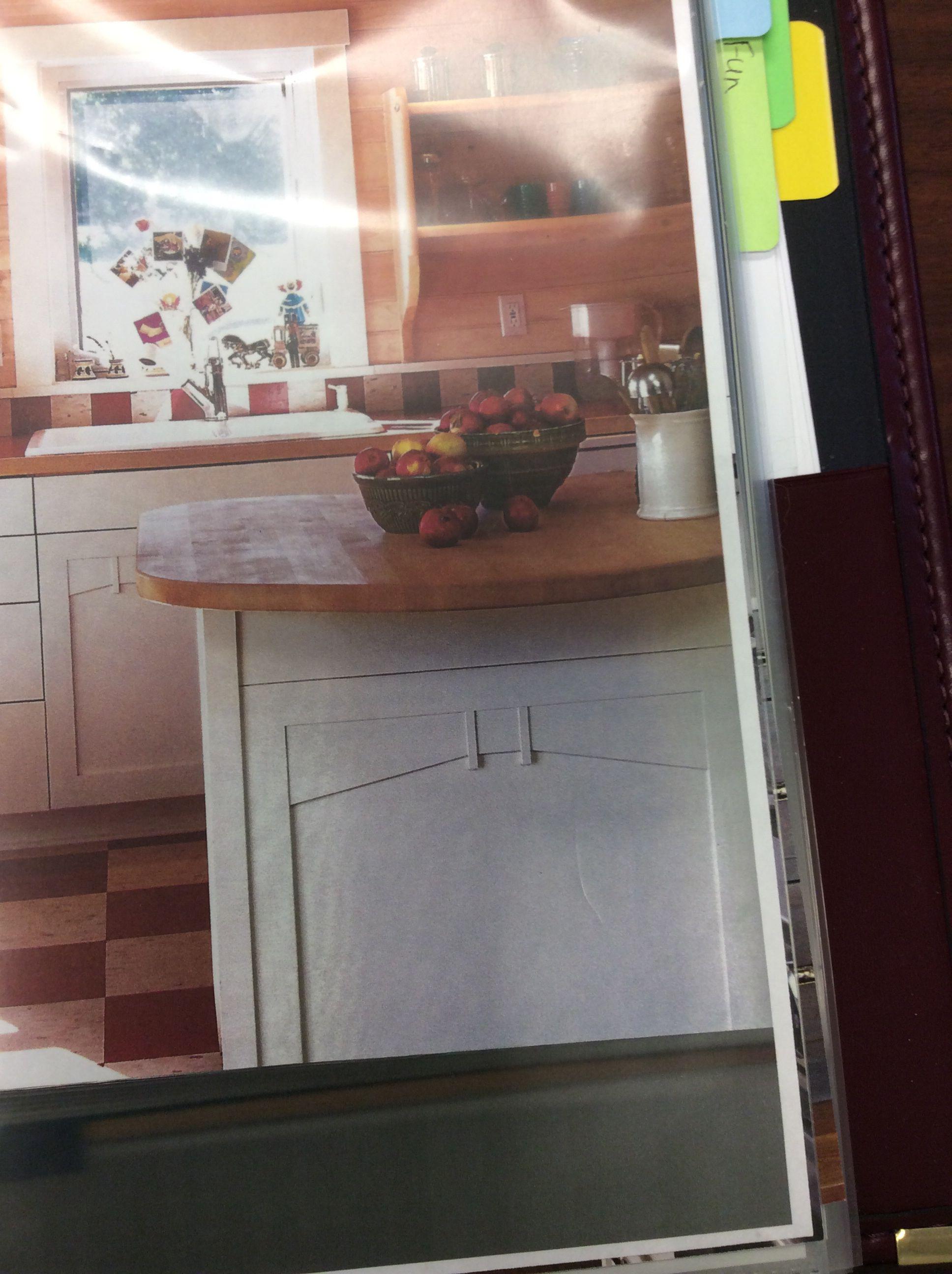 Detail on cabinet side