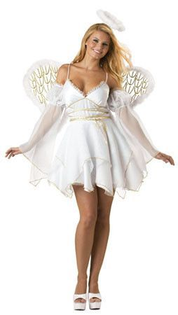 Angel Costume Adult Halloween Christmas Fancy Dress