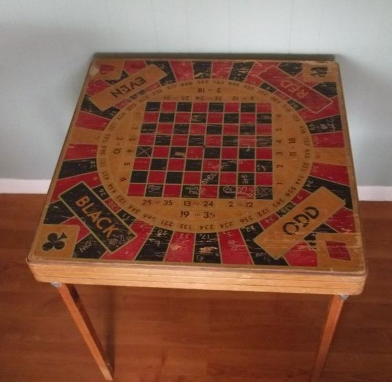 Attrayant Vintage Folding Game Table Or Wall Hanging Poker By GraceYourNest