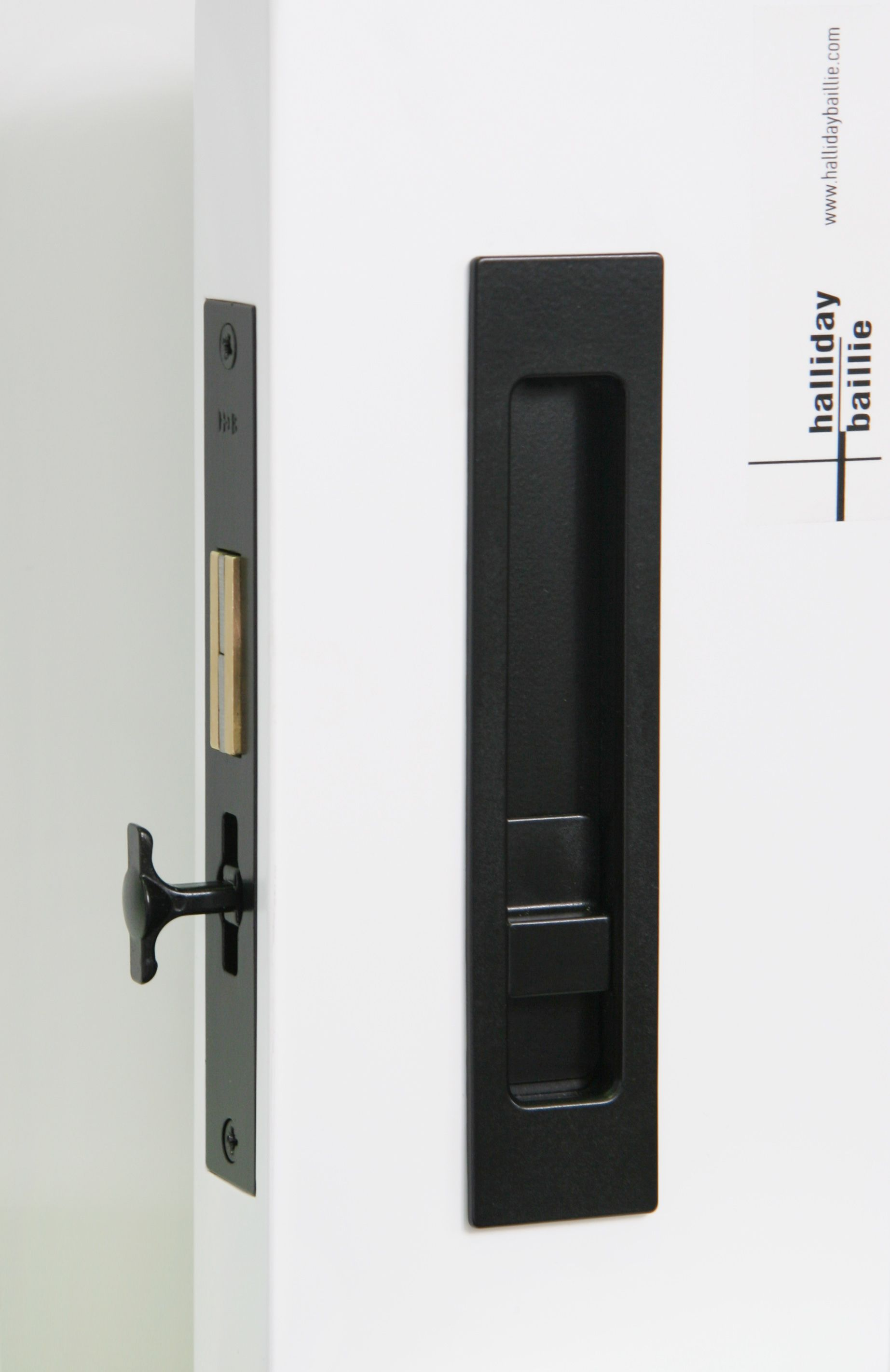 Hb690 Privacy Sliding Lock For Fully Flush Cavity Action 170mm Length With Discrete Emergency R Sliding Pocket Doors Pocket Doors Modern Sliding Door Hardware