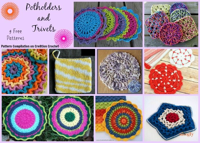 Potholders and Trivets Pattern Compilation