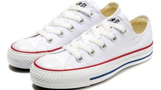Blanc de chaussures Converse Chuck Taylor All Star Classique Femmes Hommes  Toile Baskets basses - Dereo Shop 2a6790d94