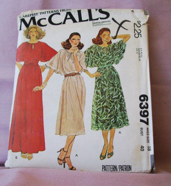1978  Uncut McCall's Pattern 6397 Misses'  by lovelylovepatterns, $4.50