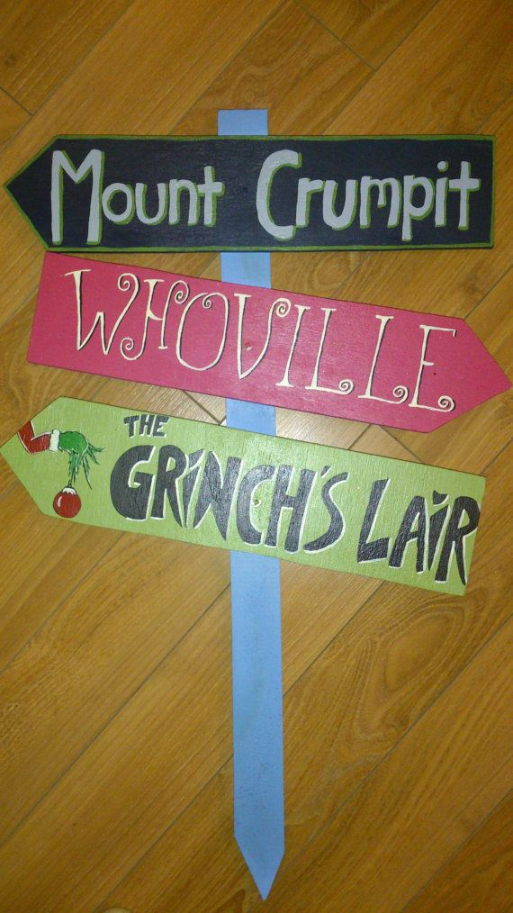 Christmas Sign Decorations Stunning The Grinch Themed Yard Signsweetiepiesigns On Etsy $3500 Decorating Design