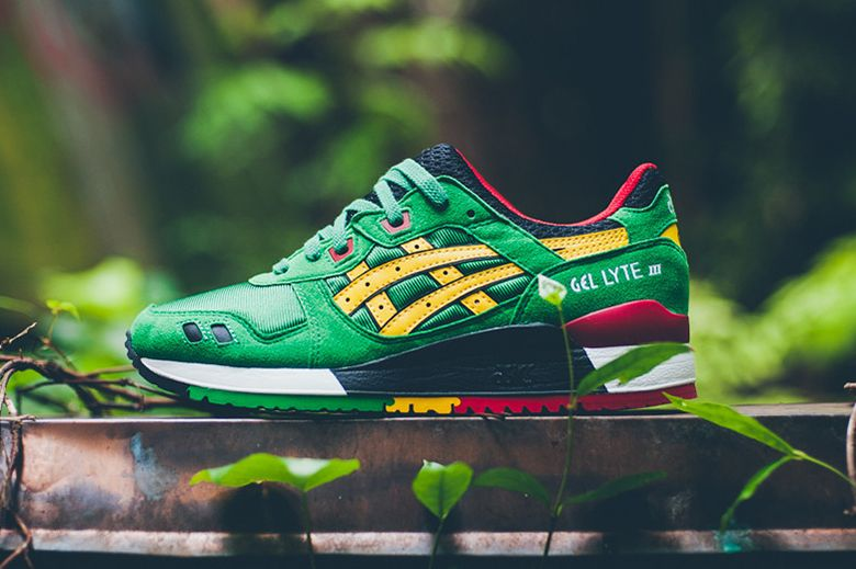 asics gel lyte iii red yellow