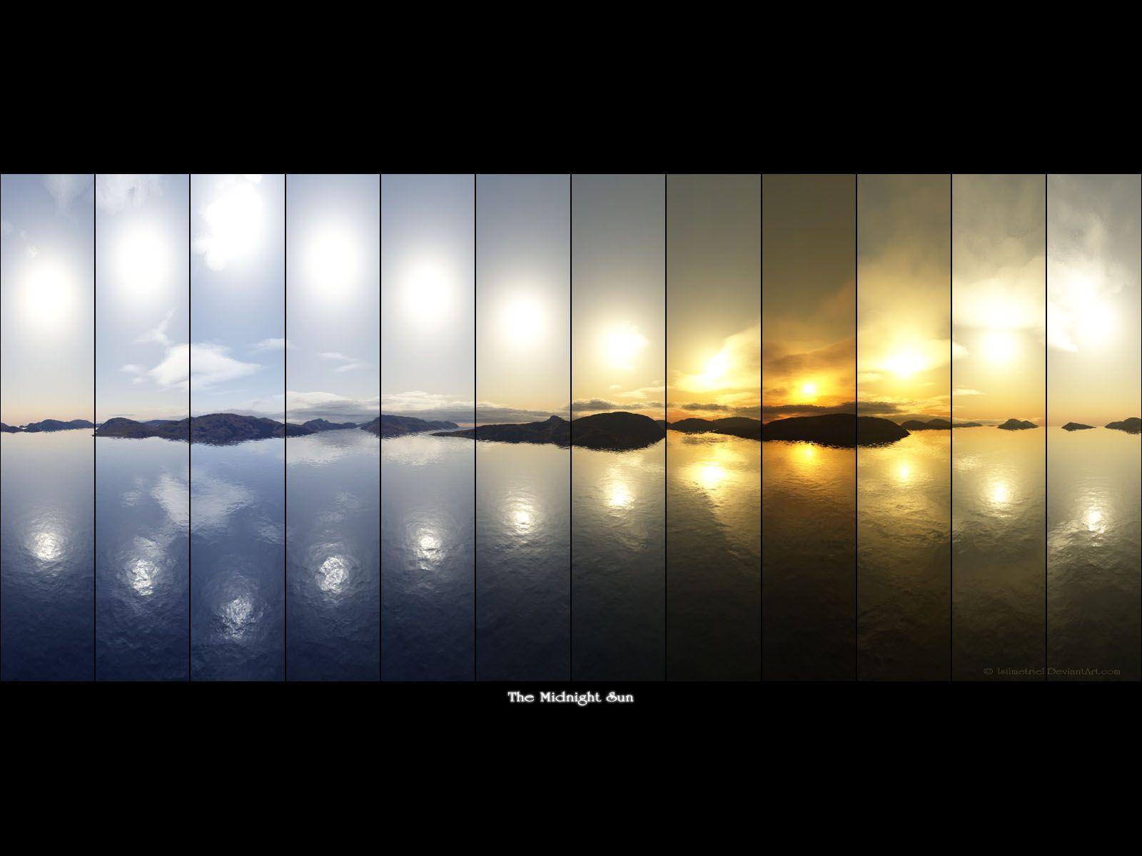 Sol da Meia Noite, Islândia