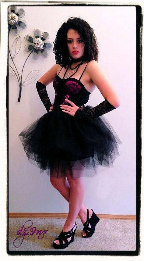 Large Black Lace Hair Bow~ Madonna 80s Fashion Hair Bow~ Madonna ...