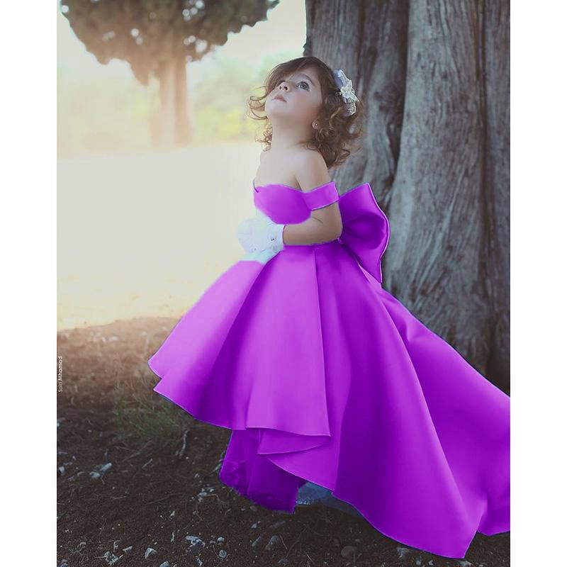 Flower Girl Dresses Blue Ball Gown Child Evening Party Gowns With