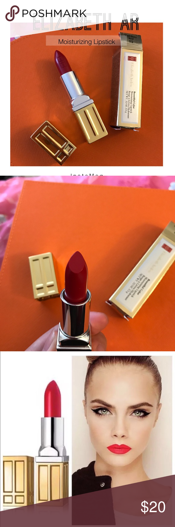 Elizabeth Arden Beautiful Color Moisturizing Full Size In Red