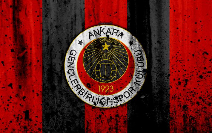 Download Wallpapers Fc Genclerbirligi 4k Super Lig Logo Turkey