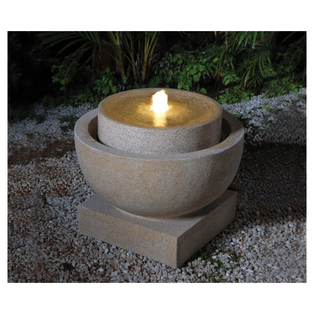 Water fountains masters - Sandstone Bubbling Water Feature Masters Home Improvement