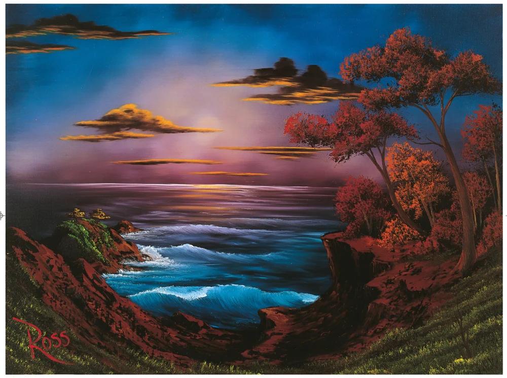 6 Peak Sneak Peek Paintings From The New Bob Ross Art Book Bob Ross Art Bob Ross Paintings Sea Art