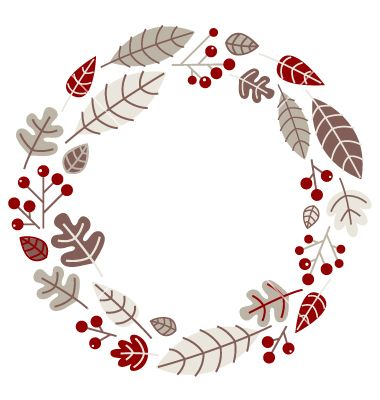 Xmas retro holiday wreath isolated on white vector 1304695 - by ...