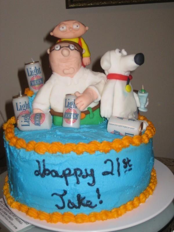 Strange Family Guy Birthday Cake Birthday Cakes For Men Cakes For Men Funny Birthday Cards Online Alyptdamsfinfo