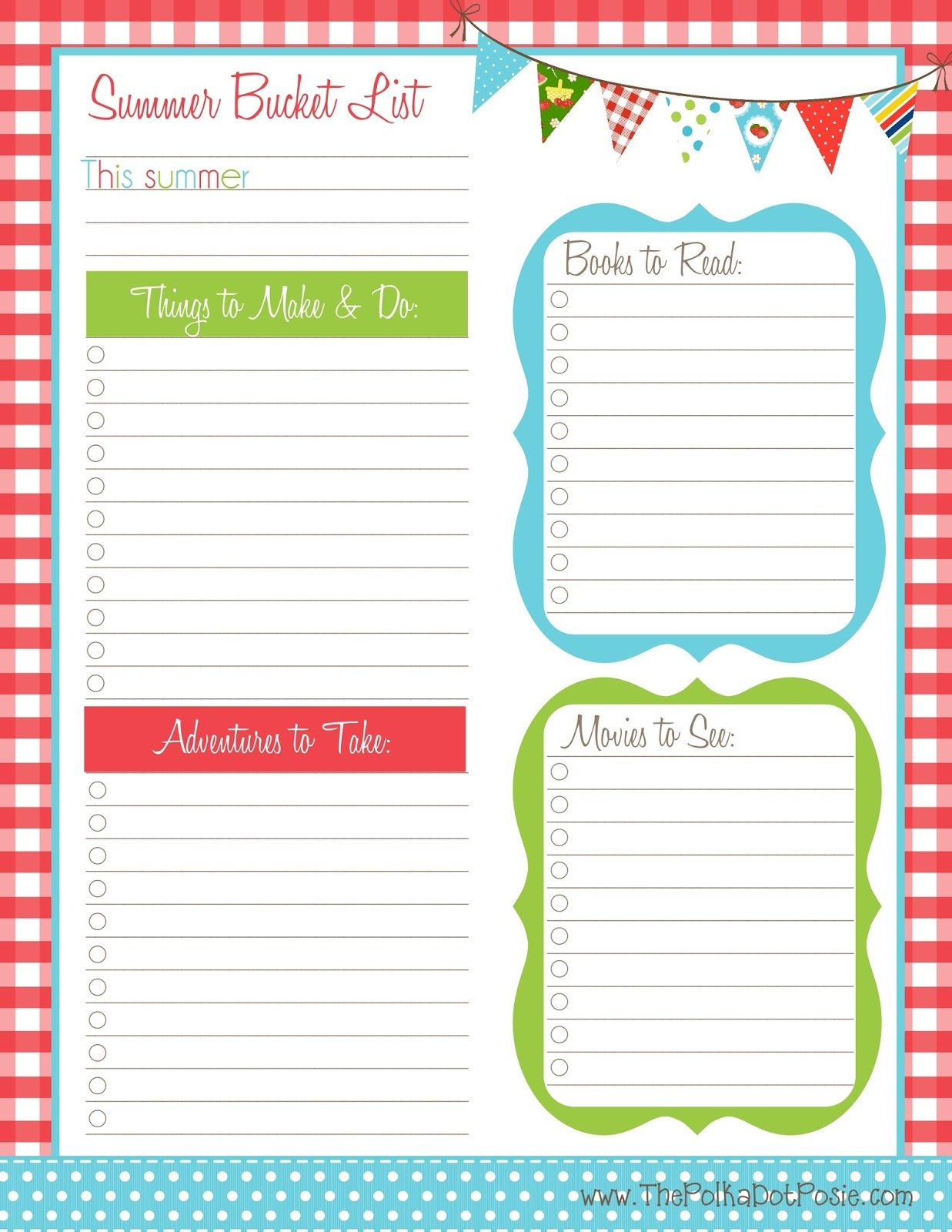 The Polka Dot Posie Free Summer Printables To Help You
