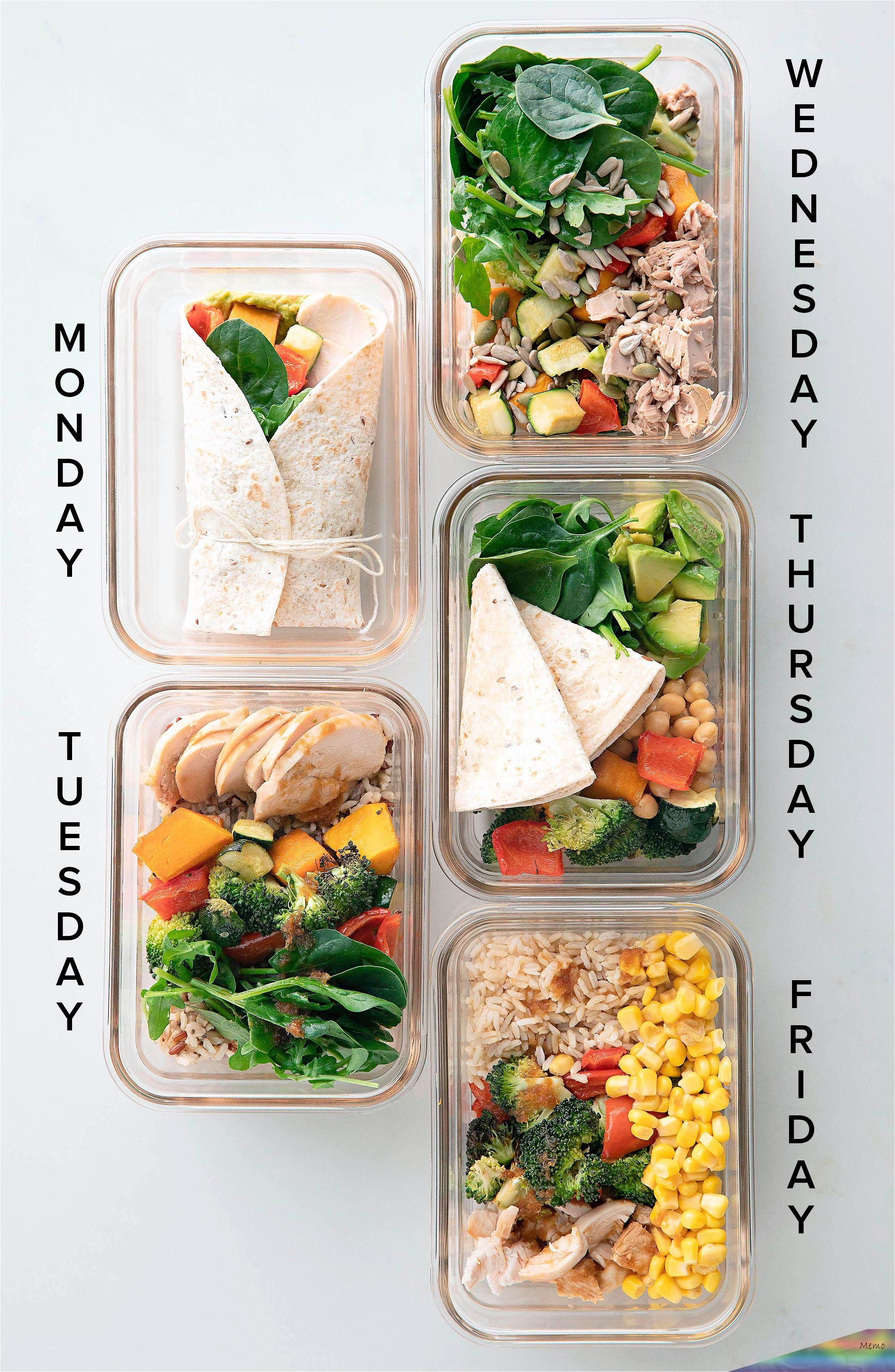 Get Lunch Sorted For The Whole Week By Making These Easy Meal Prep Ideas On Sunday Not Onl In 2020 Healthy Lunch Meal Prep Healthy Food Delivery Lunch Recipes Healthy