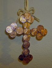 """The Frugal Way – """"Making It"""" on a Budget. : DIY CHRISTMAS CROSS ORNAMENTS FOR PE…"""