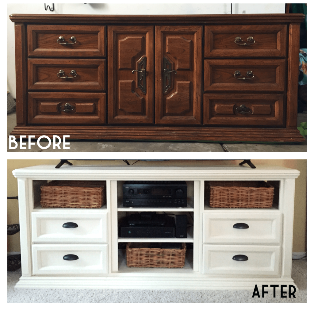 Dressers Refurbished Dresser Turned Into Tv Console Annie Sloan Chalk Paint Top Stand Best Diy Ideas