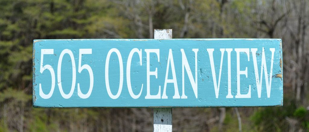 Beach House Address Sign Custom Coastal Yard Numbers Plaque Street Name Wood Signs Outdoor Seaside