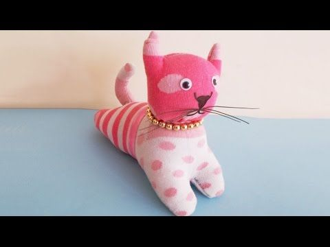 6300120d4 Easy Sewing Project : How to Make DIY Stuffed Cat Toy From Socks | DIY  Socks Crafts & Toy Making - YouTube