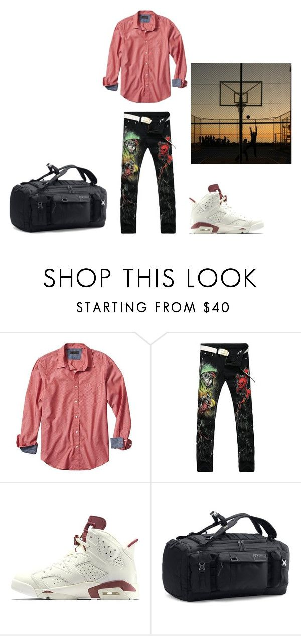 """Jump Shot"" by carlafashion-246 ❤ liked on Polyvore featuring Banana Republic, Under Armour, men's fashion and menswear"
