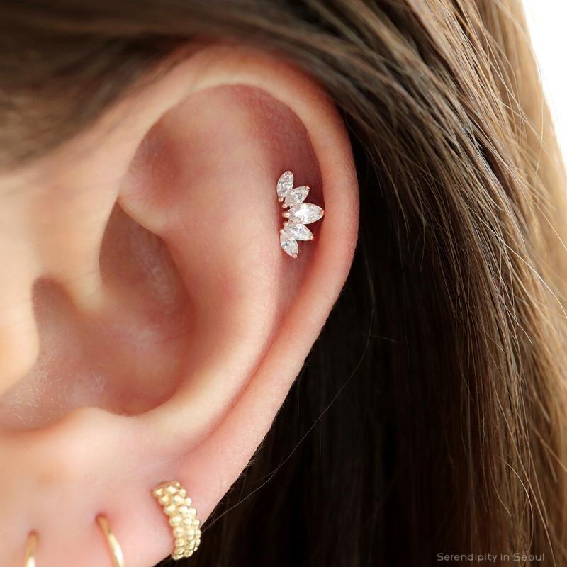 14k Rose Gold Polished Open Back Solid Hinged Huggie Hoop Earrings 11mm x 7mm