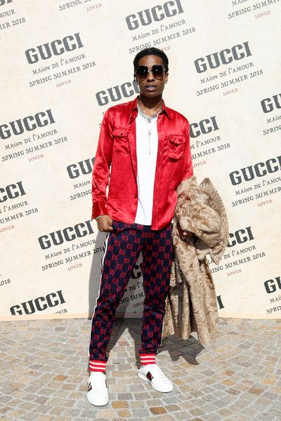 b4cc749ef8b ASAP Rocky arrives at the Gucci show during Milan Fashion Week  Spring Summer 2018 on September 20