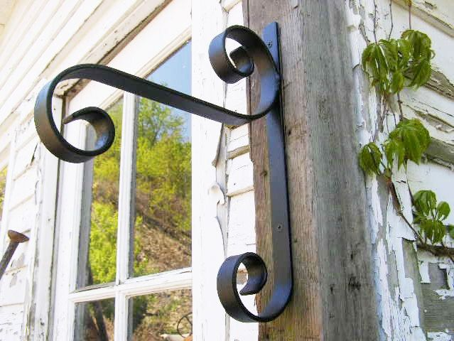 Small Hand Forged Steel Plant Hook Planter Hanger Also Suited For