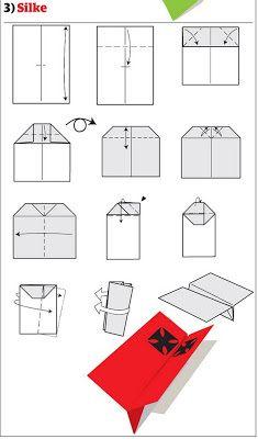 Как сделать бумажный самолётик схема фото 497