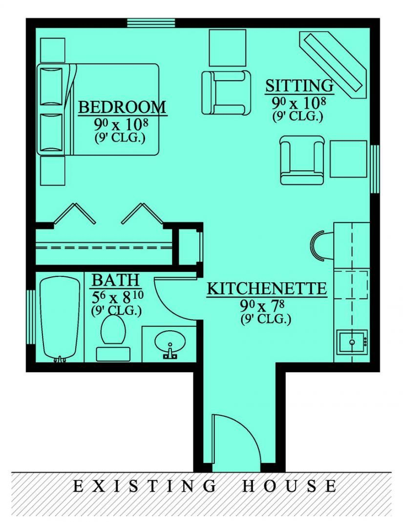 Mother Law Suite Addition House Plans Floor Home Planta Baixa