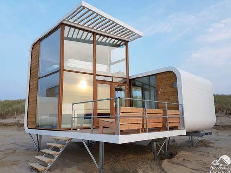 Bijzondere Huizen Nederland : Bijzondere strandhuisjes op het strand van nieuwvliet zeeland