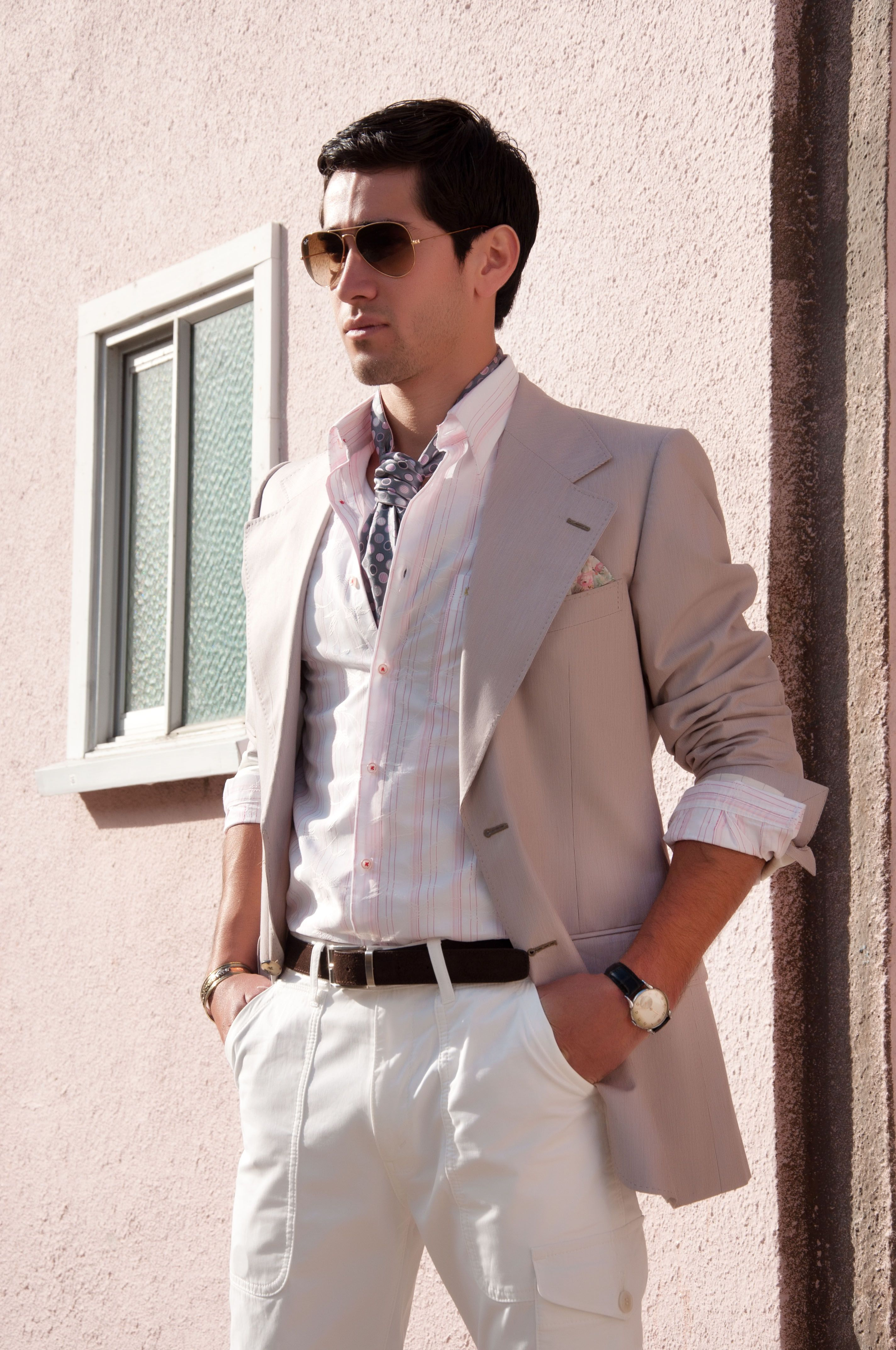 Great Summer Look Sporting The Ascot Tie Mens Fashion