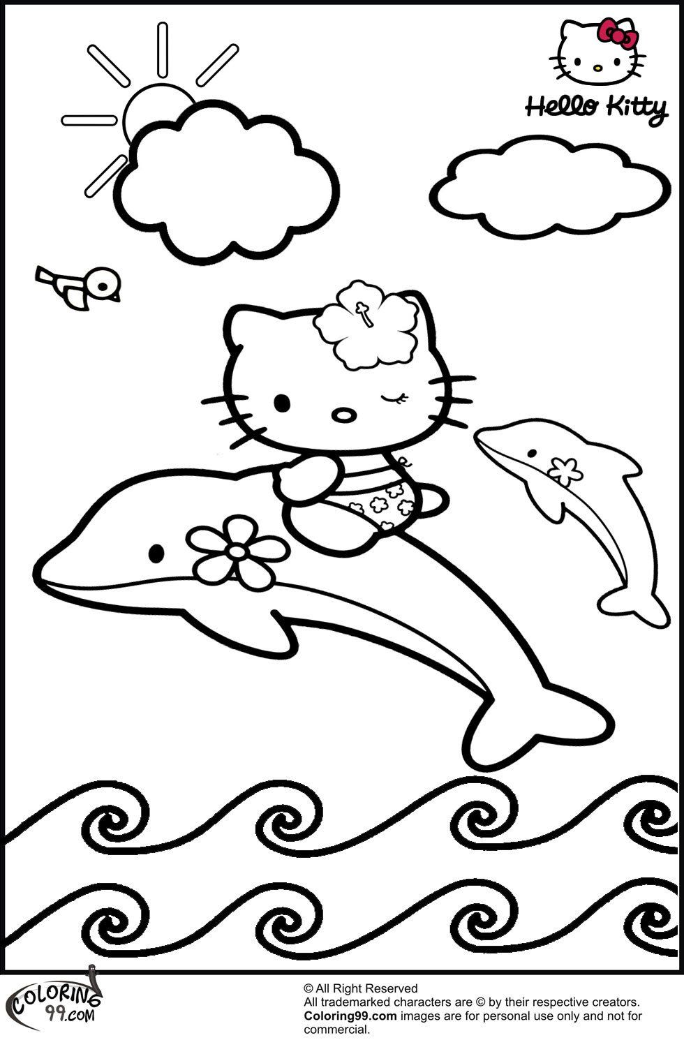 Hello Kitty Coloring Paper Hello Kitty Dolphin Coloring Pages Get Coloring Pages Kitty Coloring Dolphin Coloring Pages Hello Kitty Coloring