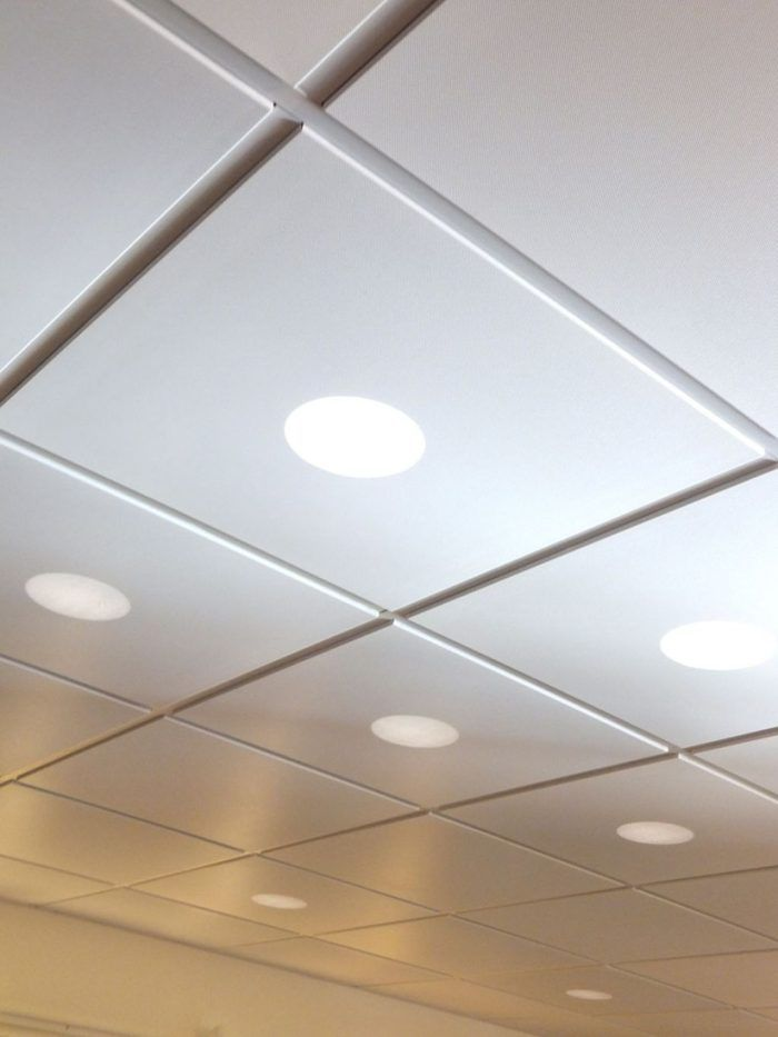 Acoustical Ceiling Tiles With Recessed Lights Work Pinterest