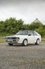 1986 Audi Quattro Sport SWB Coupé  - estimate £200,000 - 250,000. Long term UK ownership with little recent use. 32,000 miles
