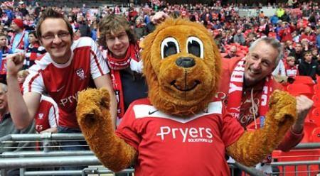 Yorkie the Lion - York City F.C.'s mascot
