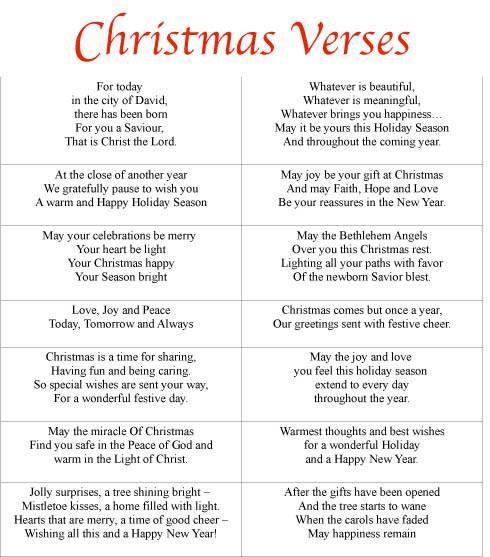 Free Printable Christmas Card Sayings … | Pinterest