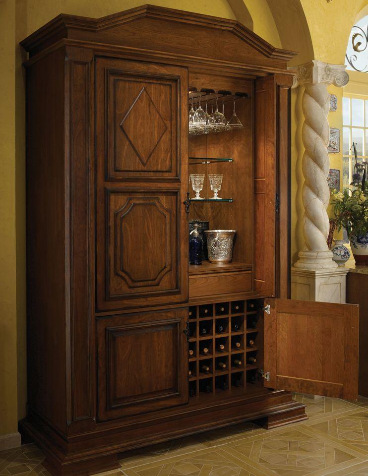 tall bar cabinet woodmode fine custom cabinetry