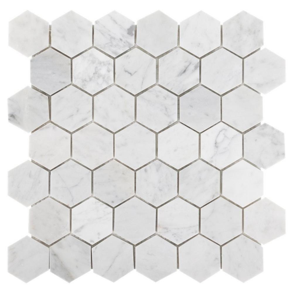 Marble Hexagon Floor Tile Gooddesign