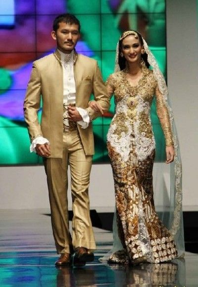 Contoh Model Baju Kebaya Pengantin Modern Couple Traditional Dress